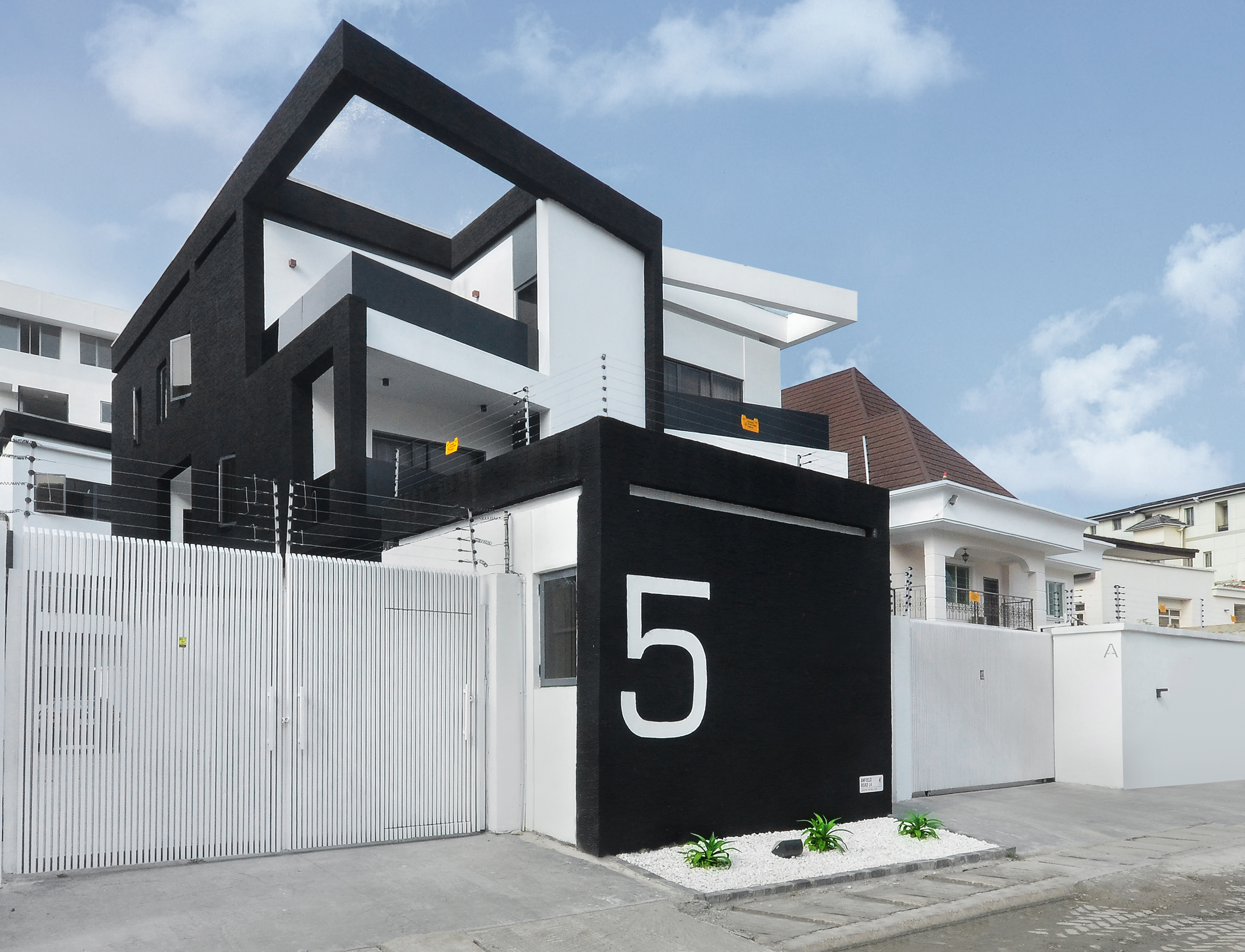 The sharp angles and clean lines hence the name scissor evoke a sense of dynamism that most nigerian residential design is