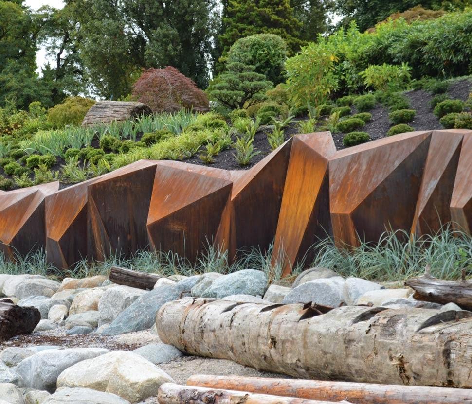 Modern Landscape Architecture: STEEL ROCKS: Sculptural Seawall By Paul Sangha Landscape