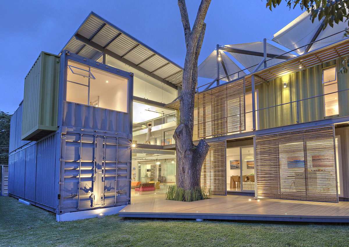 A simple shed roof for this container home.
