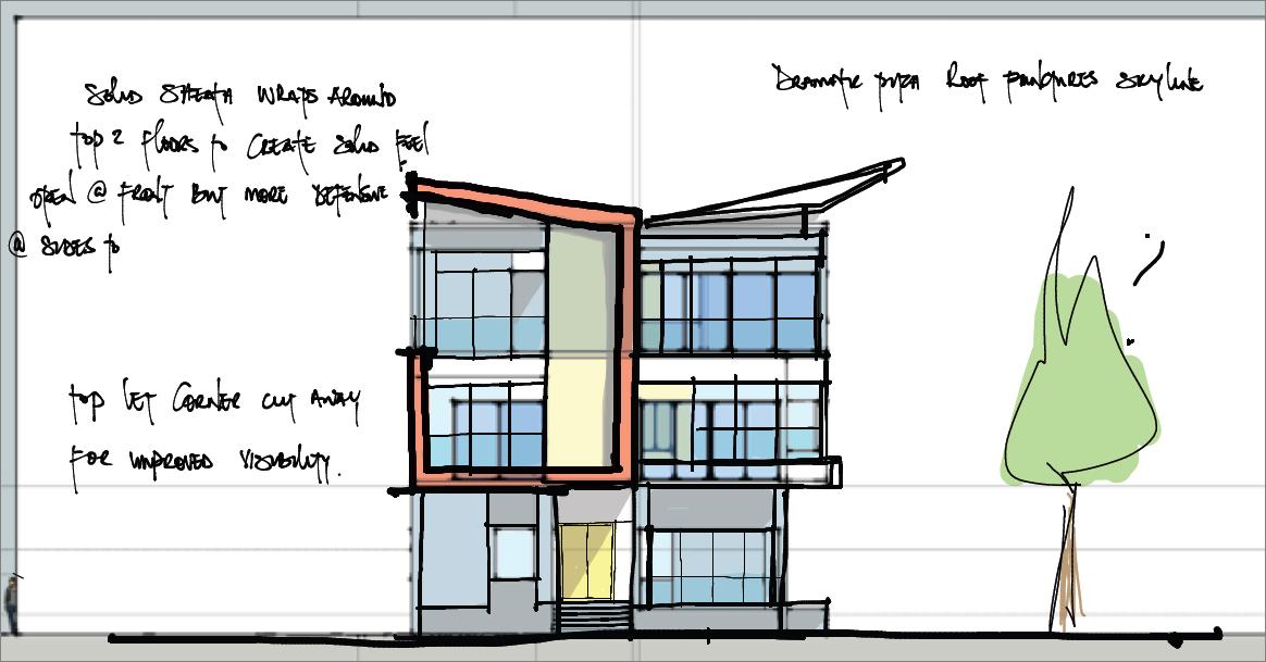 scissor house sketch