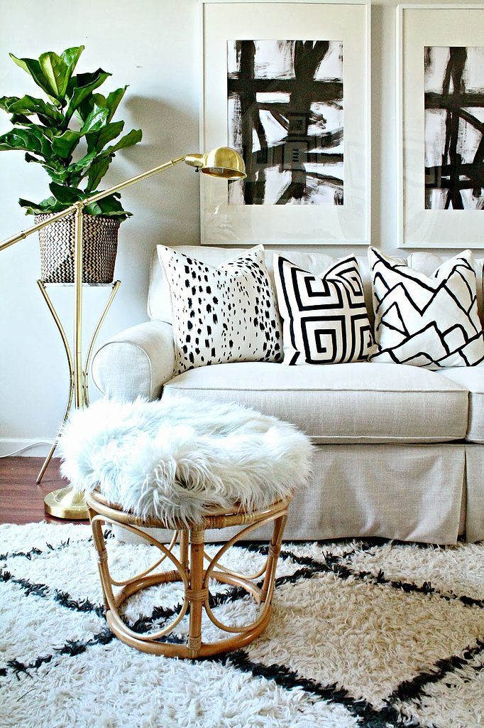 DIY designer painted pillows