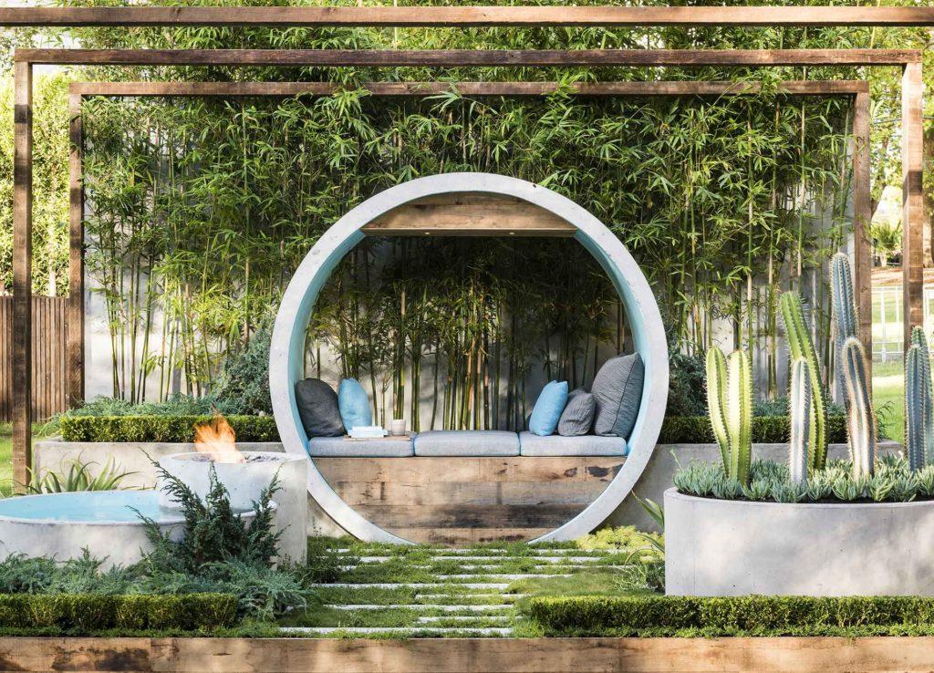 The award winning boutique garden 'pipe dream' by Alison Douglas