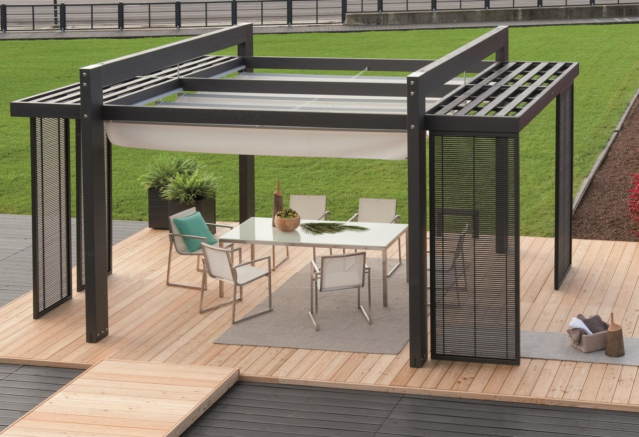 20 inspiring contemporary pergolas and outdoor spaces livin spaces. Black Bedroom Furniture Sets. Home Design Ideas