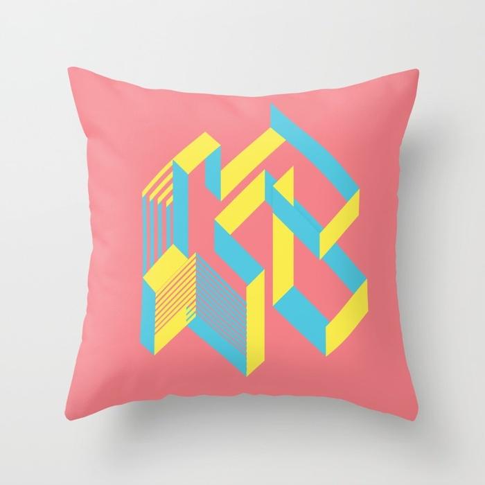 Colourful Throw Pillows by Damola Rufai.