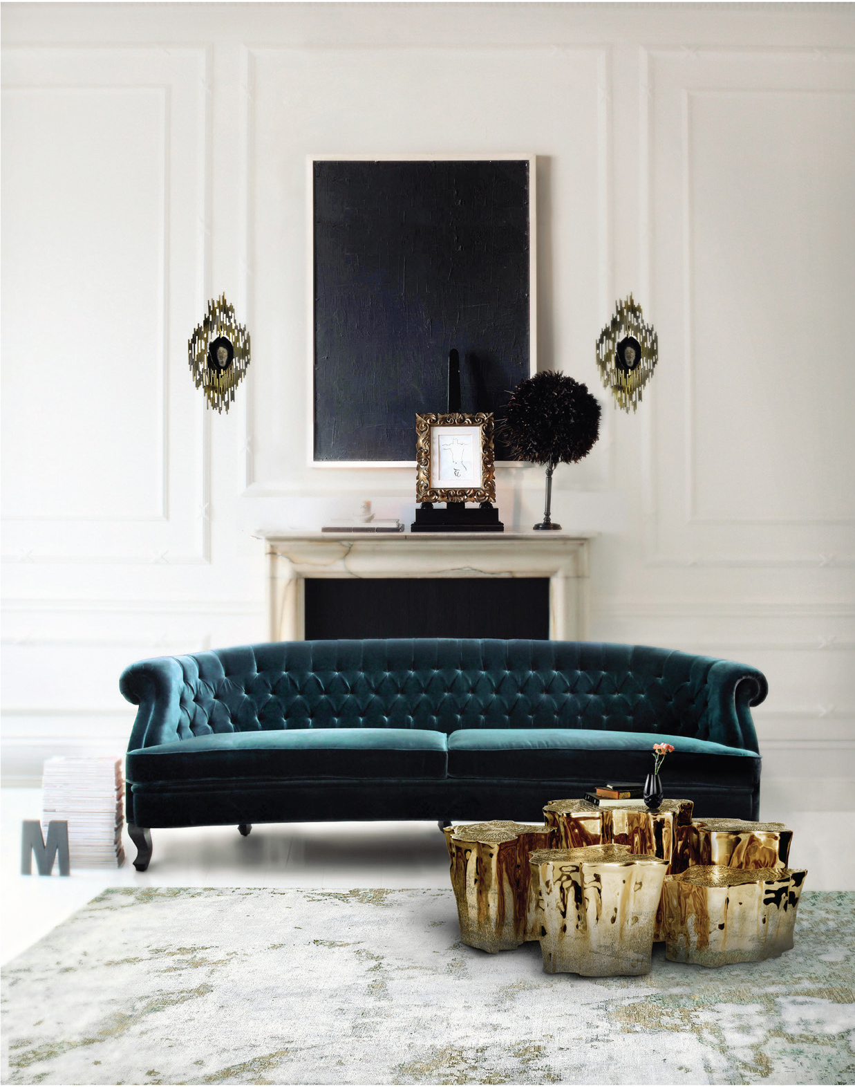 Design inspiration for the luxurious modern classic living room