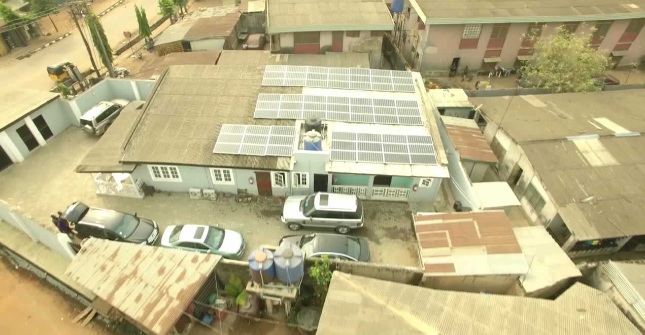 An Off-grid solar home in suburban Lagos, Nigeria.