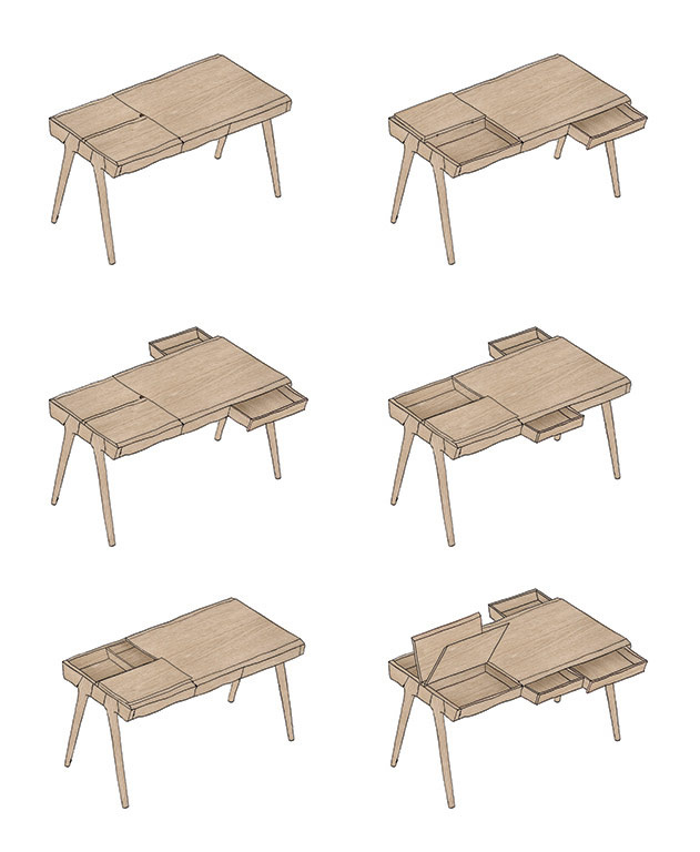 The Metis Desk by Goncalo Campos for WeWood 1