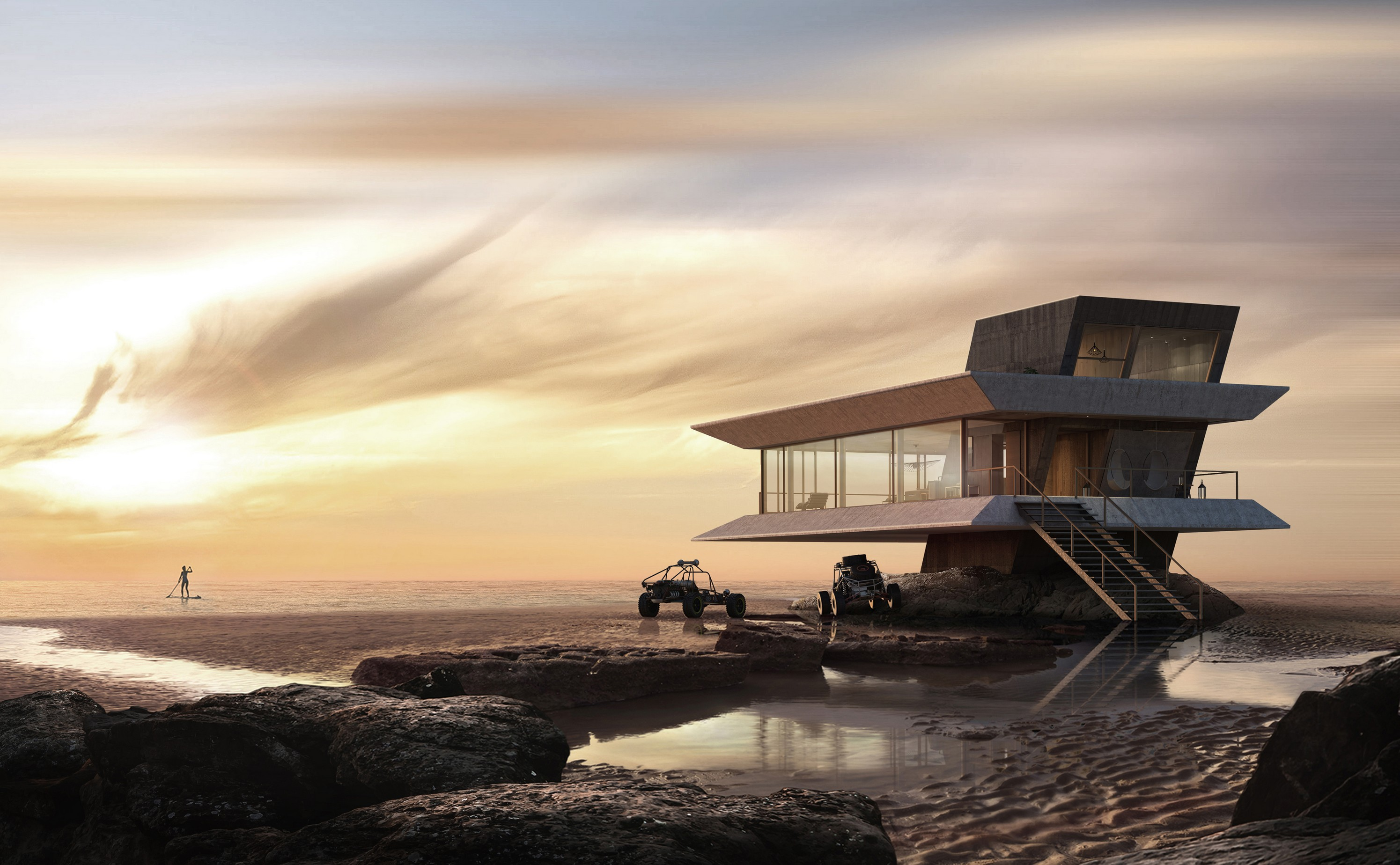 This futuristic beach house design by Atelier Monolit
