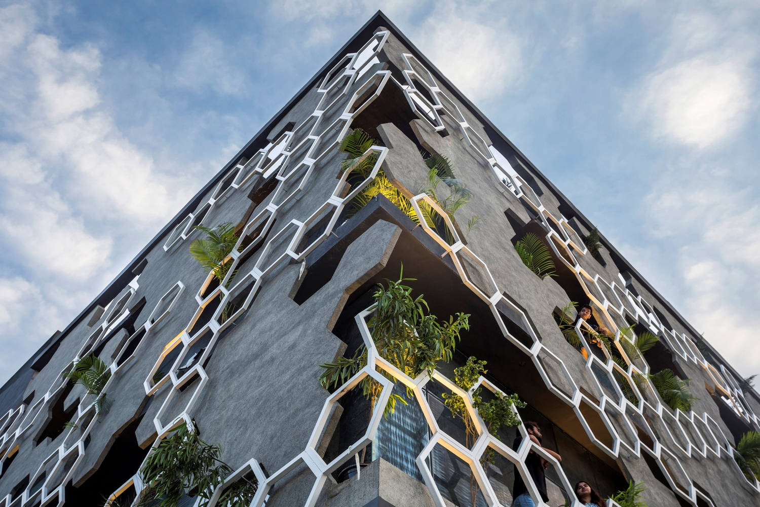 Facade: Hexalace Office Building By Studio Ardete Features A