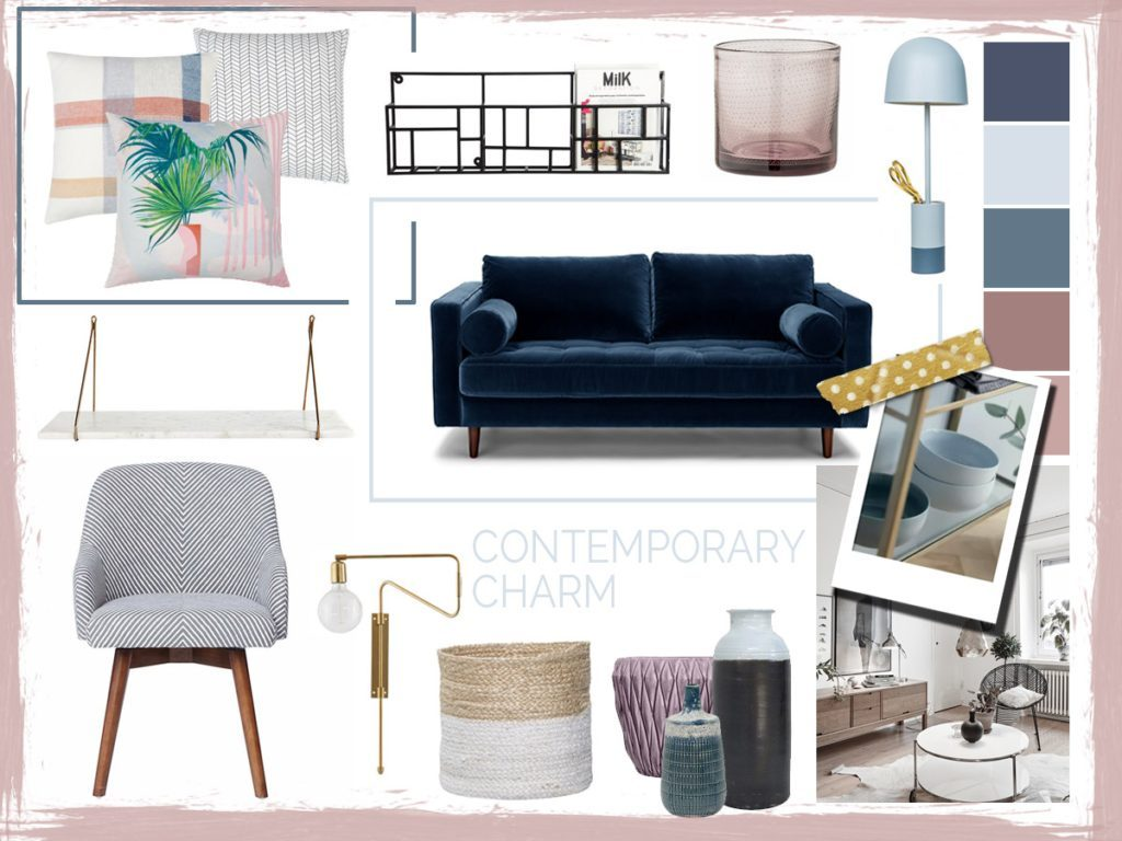 Mood boards are a good way to visually represent your design ideas.