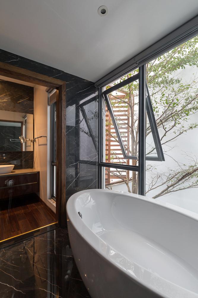 Awning Window in Bathroom