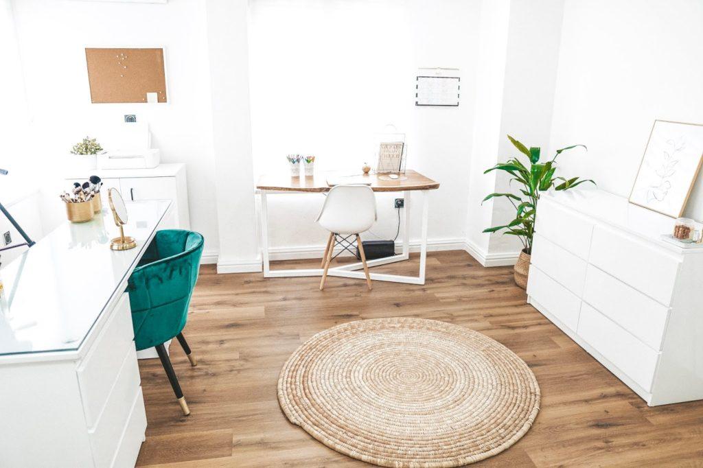Dimma Umeh home office wood floor