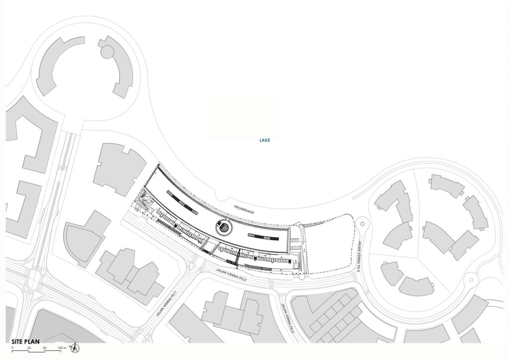 Site plan of Heriot Watt University Malaysia