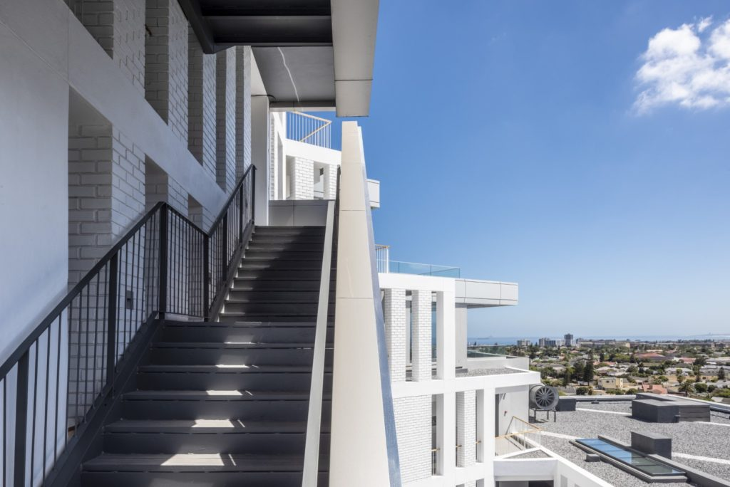 Axis apartment building in South Africa by dhk architects.