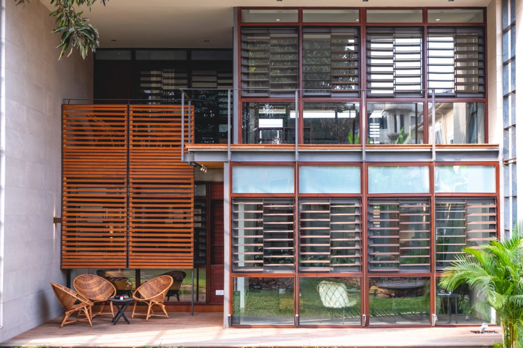 facade of residential unit in Legon City Lofts by OOA