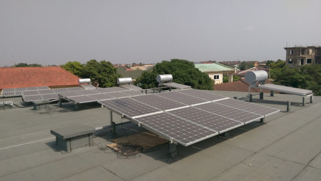 Solar Panels on Roof of Legon City Lofts by OOA