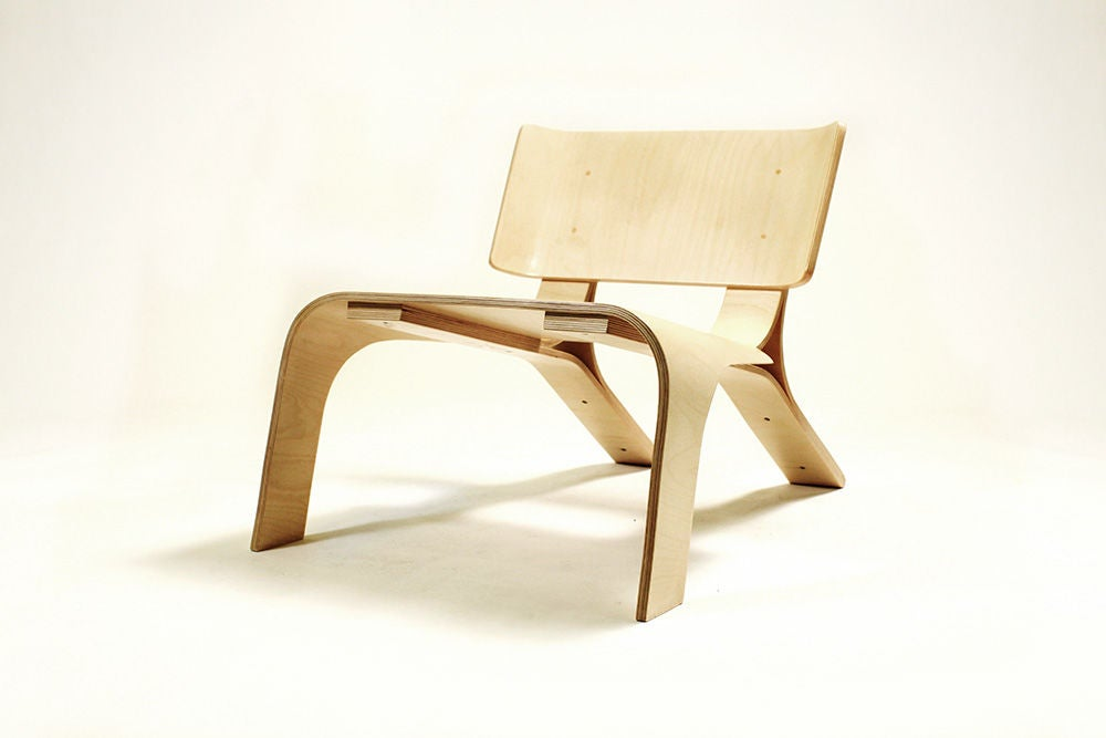 Modern Lounge Chair Out Of Bent Plywood, Bent Plywood Furniture