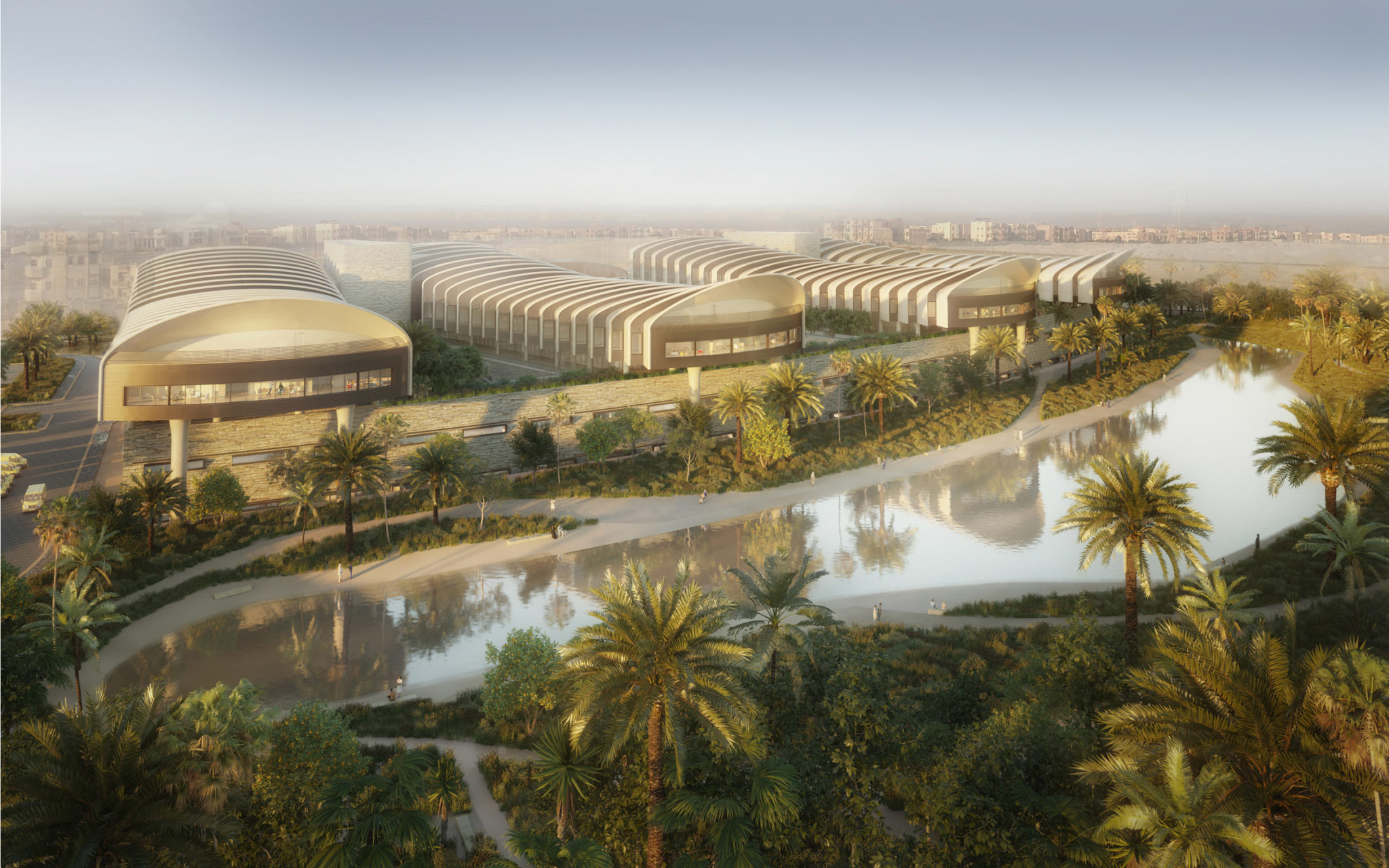 Proposed Magdi Yacoub Global Heart Centre Cairo Hospital in Egypt by Foster+Partners.