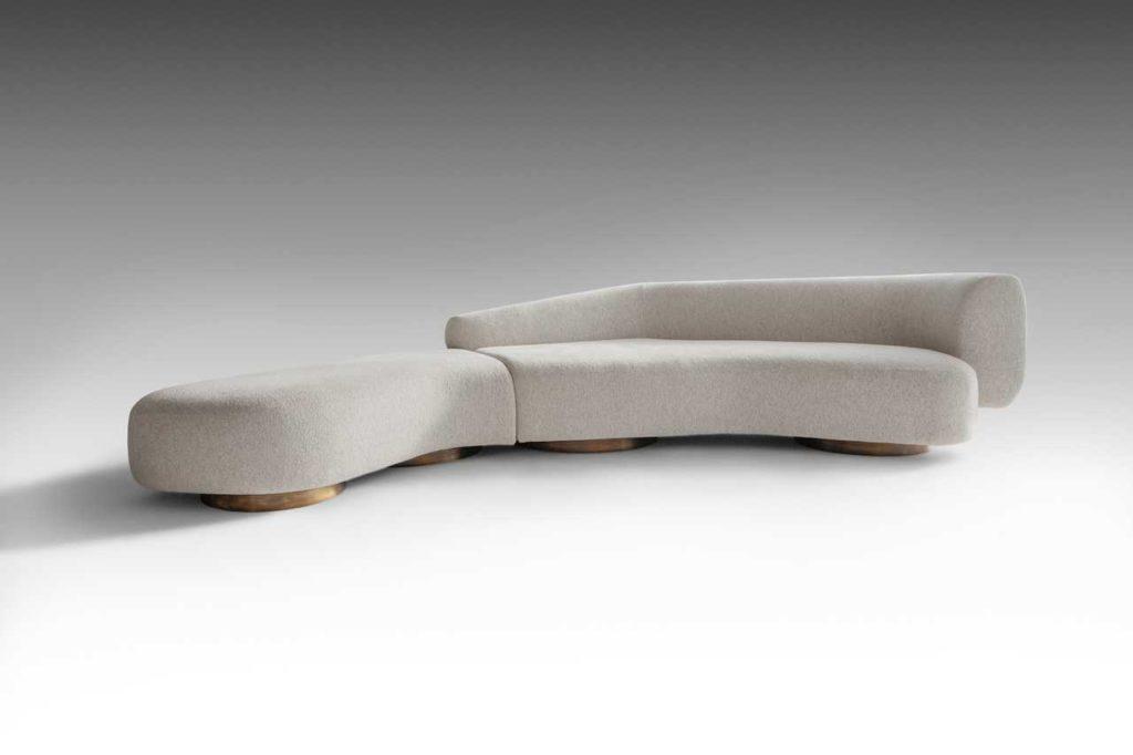Repose sofa by OKHA - front