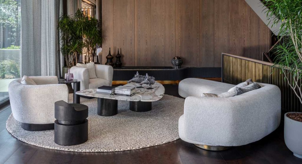 Another view of the repose sofa in the South Villa Pent house