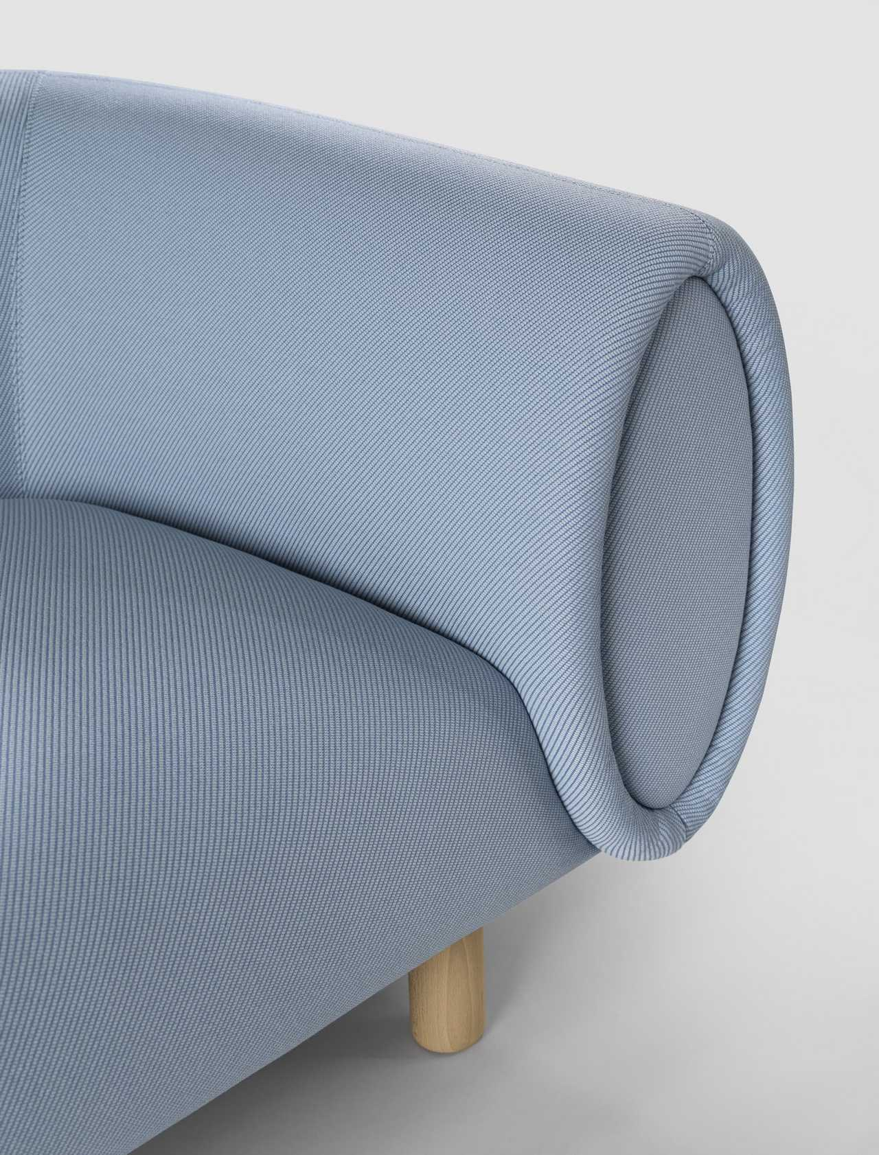 Tobi is a curvy sofa design by Rexite that portrays Timeless Elegance