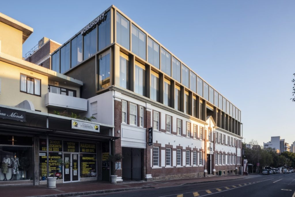32 on Kloof street view after transformation by dhk arkitects