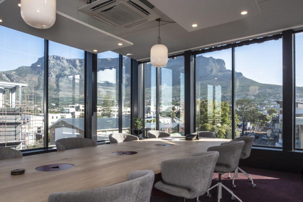 Indoor meeting room