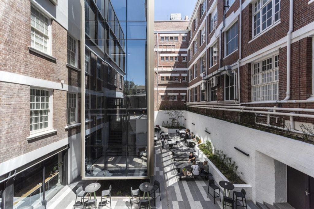 The sunken courtyard