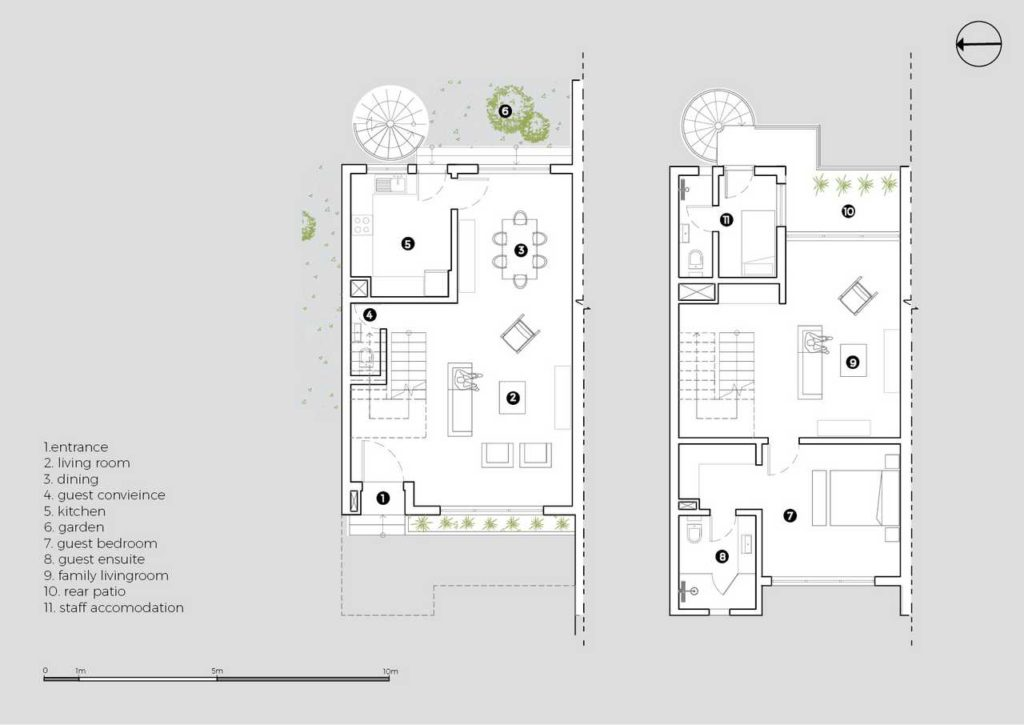 5 four-Bedroom Terrace Apartment design floor plan