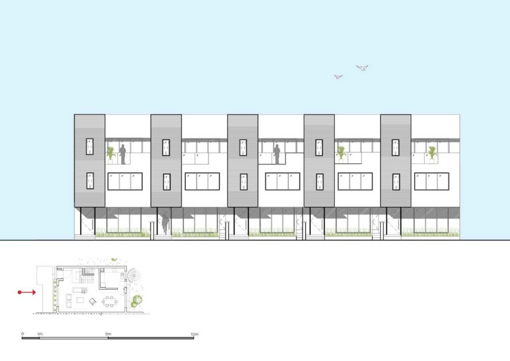 5 four-Bedroom Terrace Apartment design elevation