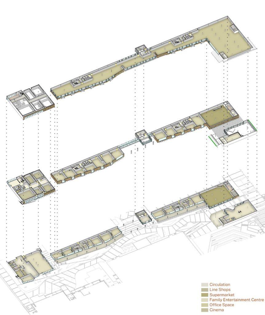 Landmark-Village Development Axonometry