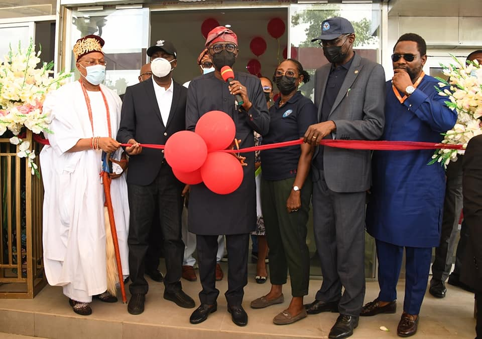 Lagos State Governor Commissioning Yaba Bus Terminal