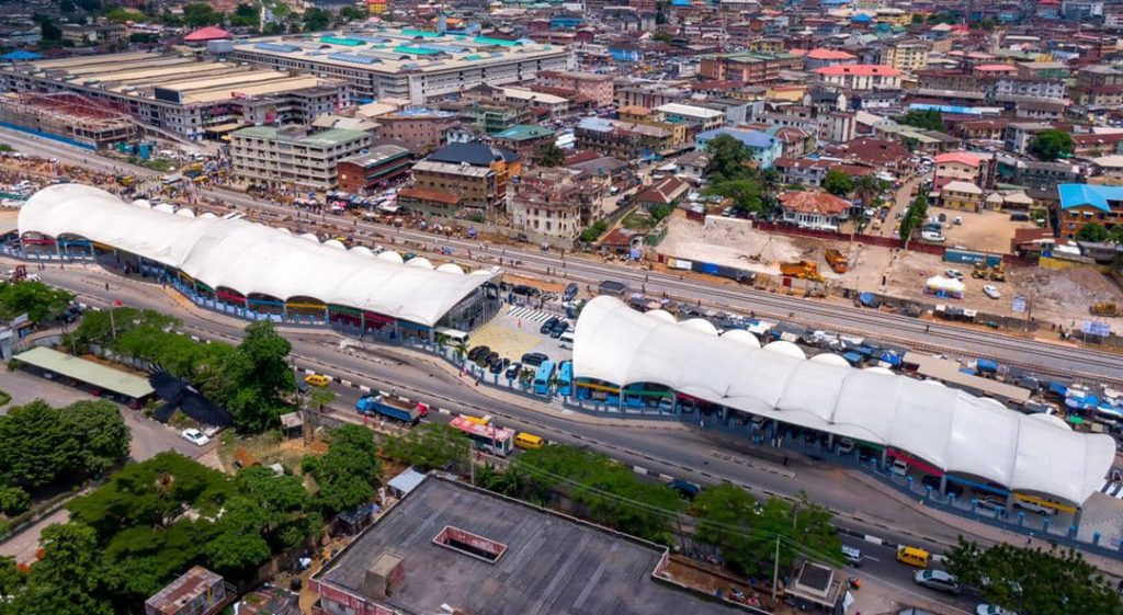 Aerial View of Yaba Bus Terminal
