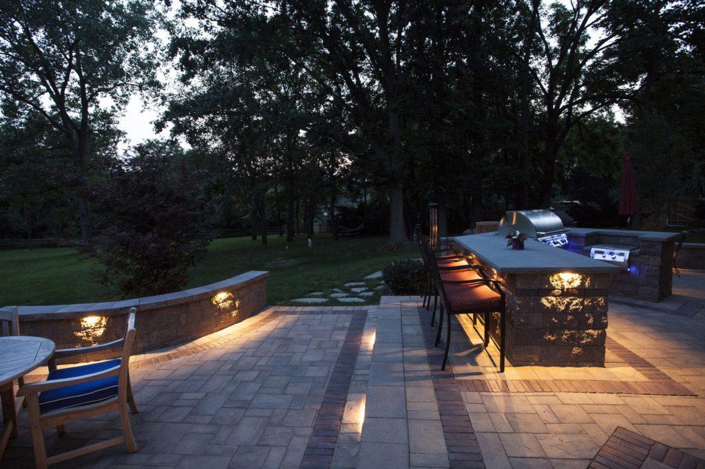 Outdoor lighting stock image