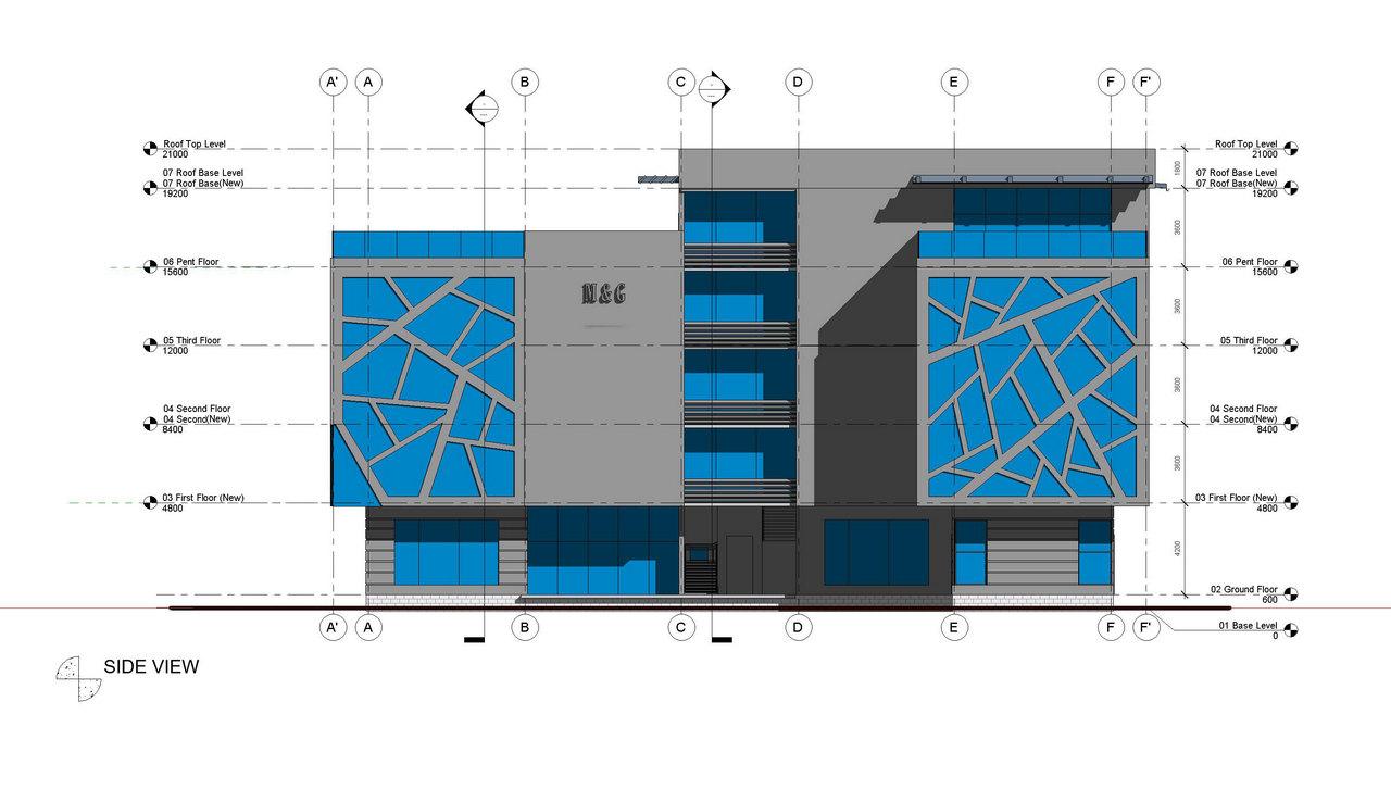 M&G Office Building_Akinwale_Arokodare_elevation 2
