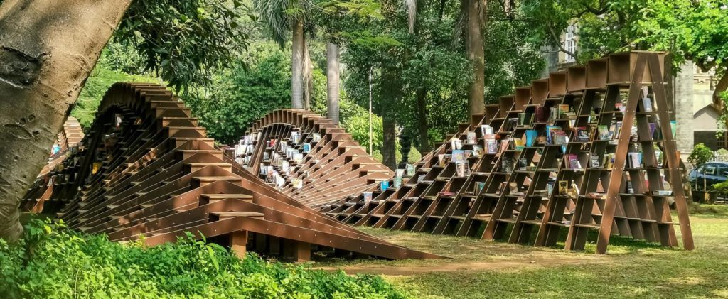 BookWorm Pavilion in Mumbai by Nudes