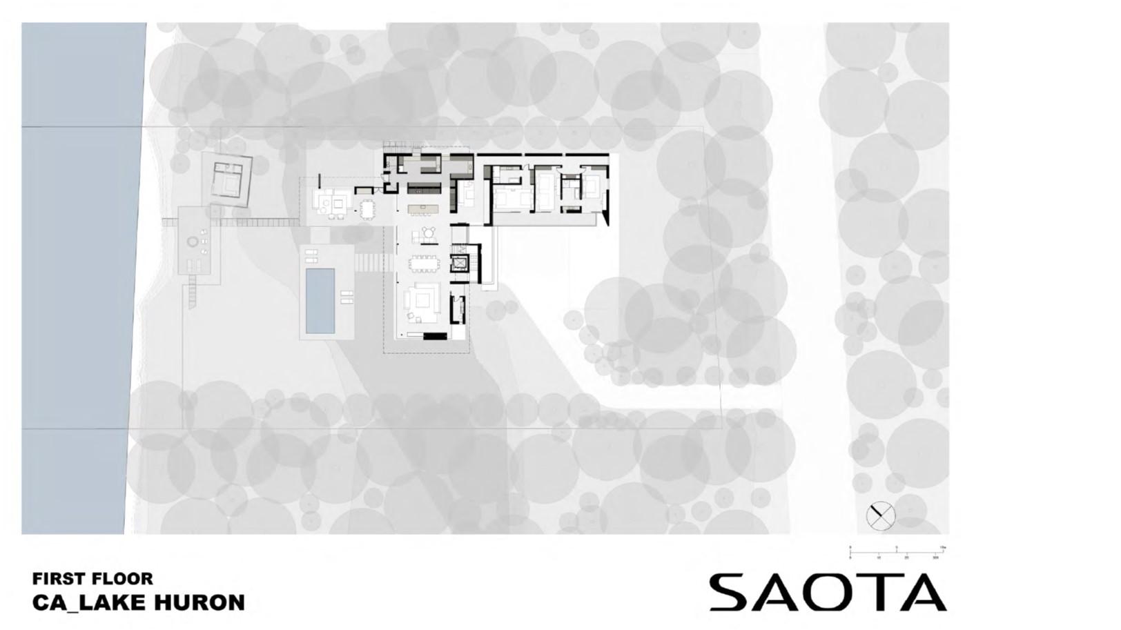 Lake Huron Summer House_SAOTA_First Floorplan