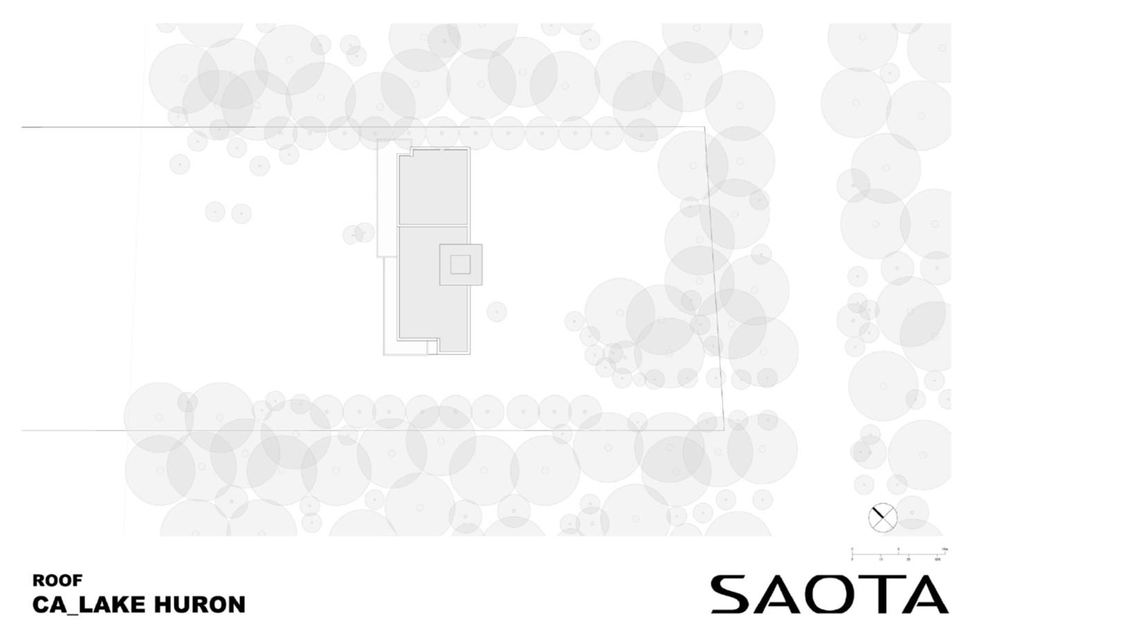 Lake Huron Summer House_SAOTA_Roof Plan