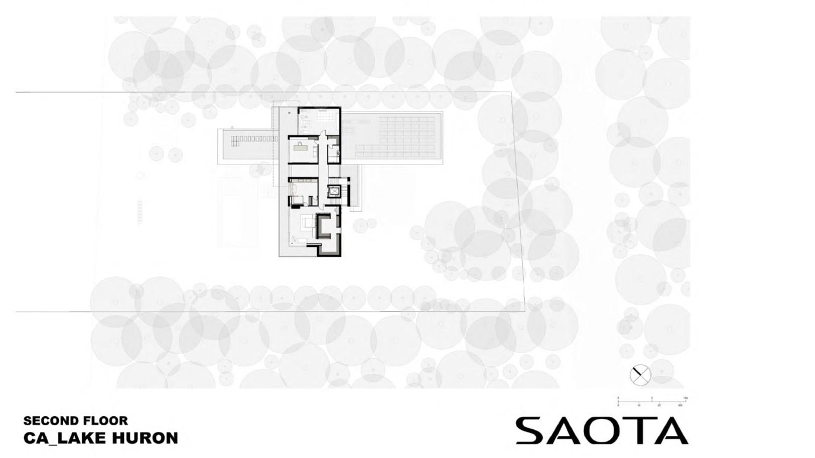 Lake Huron Summer House_SAOTA_Second Floorplan