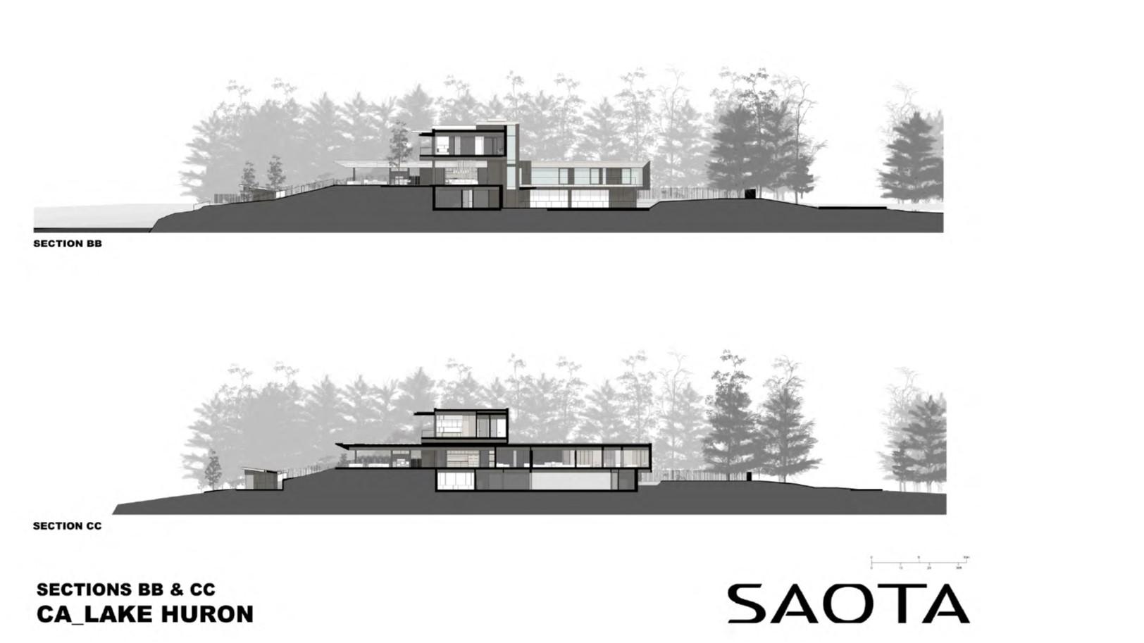 Lake Huron Summer House_SAOTA_Sections