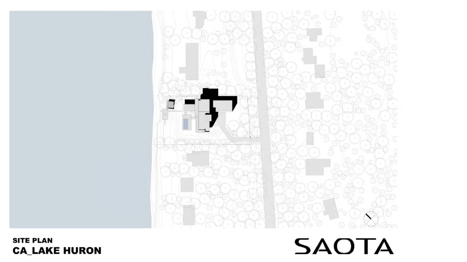 Lake Huron Summer House_SAOTA_Site Plan
